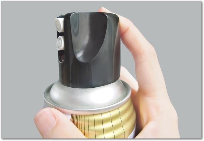 スプレー缶噴射口のアップ