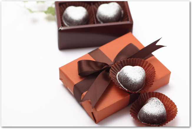 手作りチョコレート完成品