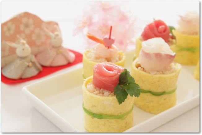 カラフルなひしもち寿司