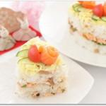 ひな祭りは寿司ケーキで?ひしもち寿司にする?牛乳パックを活用?