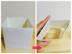 牛乳パックで作るちらし寿司ケーキ用のひし型