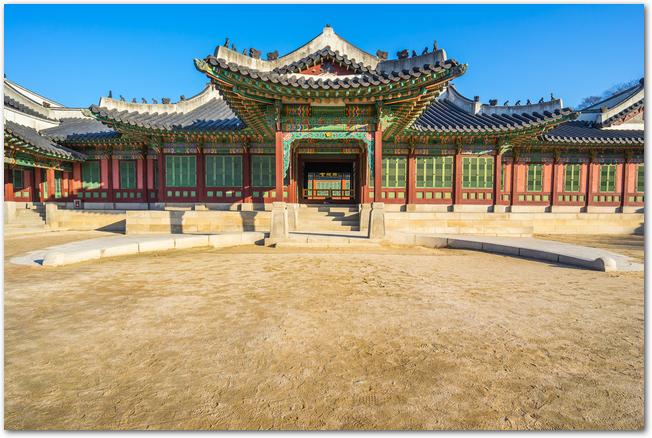 韓国の観光地昌徳宮の風景