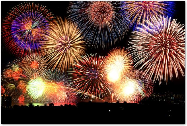 勝海祭りの花火大会の花火