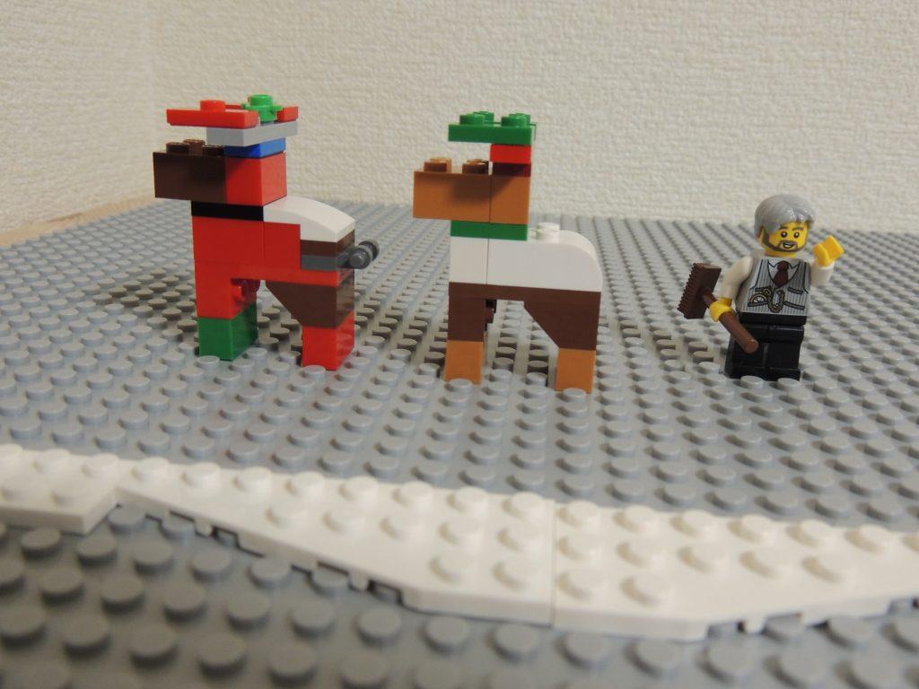 レゴアドベントカレンダーのトナカイとフィグ