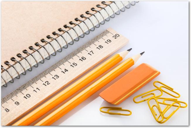 筆箱やノートなどの文房具
