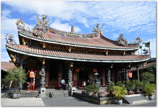 台北の保安宮の建物の様子